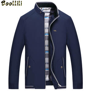 Men's Jackets Jaqueta Casual-Stand Brand Clothing Slim Autumn New-Design Collar Boollili