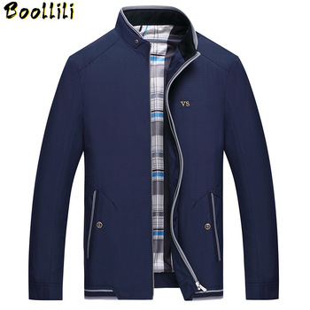 Boollili Men's Jackets 2020 New Design Autumn Casual Stand Collar Jaqueta Masculina Brand Clothing Slim Jacket Plus Size