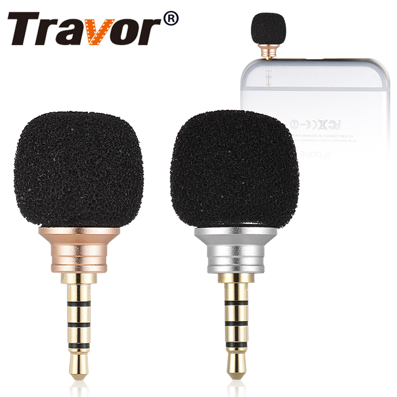 Travor Smartphone Portable Wireless Mic Cellphone Portable Mini Omni-Directiona Microphone For IPhone X Huawei 3.5mm Jack