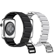 Stainless Steel loop apple watch Strap for apple watch band 38mm 42mm Bracelet watch bands For iwatch Series 4 3 2 1 44mm 40mm watchband luxury stainless steel band for apple watch series 3 2 1 42mm 38mm strap bands for apple watch 4 40mm 44mm bracelet