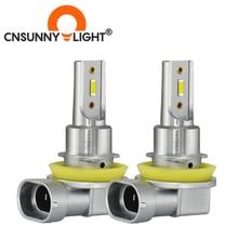 CNSUNNYLIGHT H11 9005/HB3 9006/HB4 LED רכב ערפל אור פנס הנורה 2400Lm 6000K לבן 1900K צהוב H9 H8 H16 אוטומטי קדמי Foglamp