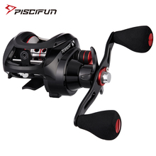 Piscifun Torrent Fishing Reel 8.1kg Carbon Drag 7.1:1 5.3:1 Gear Ratio Magnetic Brake Saltwater Freshwater Baitcasting Reel