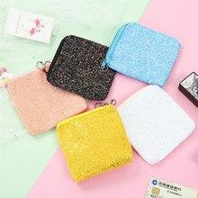 купить Hot Sale Fashion Sequins Coin Purse Mini Glittering Money Bag  Zipper Key Card Holder Pouch Earphone Bag Handbag Birthday Gifts по цене 73.6 рублей