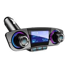Аудио Автомобильный mp3 плеер USB модулятор Bluetooth fm-передатчик светодиодный двойной USB Мобильный телефон громкой связи дисплей зарядное устройство беспроводной музыка