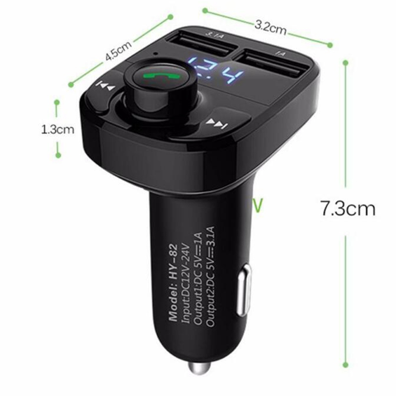 Bluetooth FM Transmitter Wireless Radio Adapter MP3 Player Dual USB <font><b>Car</b></font> Charger image