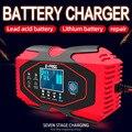 12V 24V 6A Intelligente Auto Motorrad Auto Blei Säure Lithium Batterie Smart schnelle Lade Batterie Ladegerät Digital LCD display