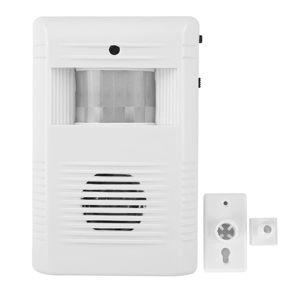 Auto IR Motion Independent Sensor Store Home Welcome Door Bell Entry Voice Built In Speaker Adjustable 16 Music
