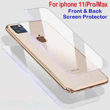 Передняя Задняя Защитная пленка для экрана iphone X XS 11 Pro Max XR 6s 7 8 Plus защитное стекло на iphone XS 11 Pro макс. закаленное стекло