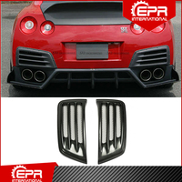 Für Nissan R35 GTR 08-16 CS Stil FRP Fiber Glas Hinten Stoßstange Kanal CAB DBA Fiberglas GT-R Stoßstange air Vent Tuning Körper Kit Trim