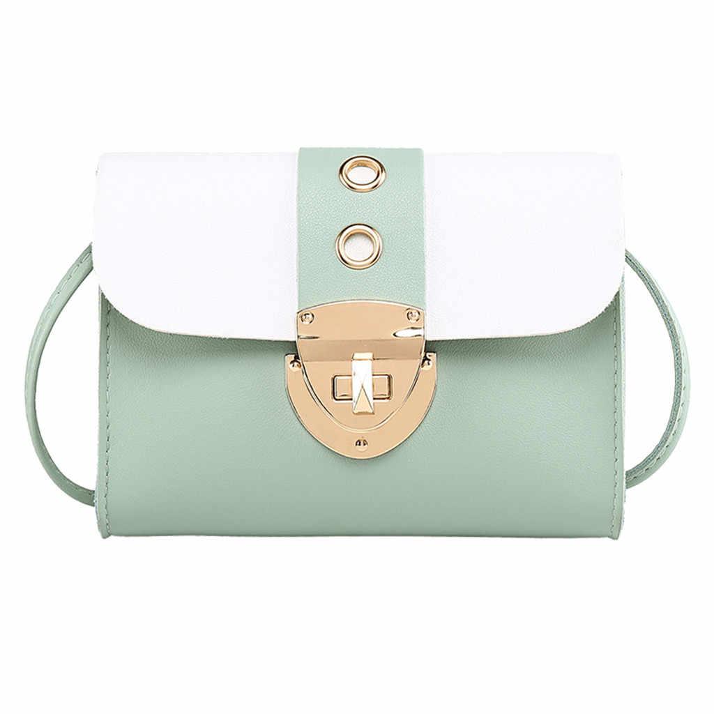 Mode Taschen Für Frauen 2019 Schloss Leder Schulter Tasche Japanischen stil reise Umhängetasche Einfarbig handy tasche Mini
