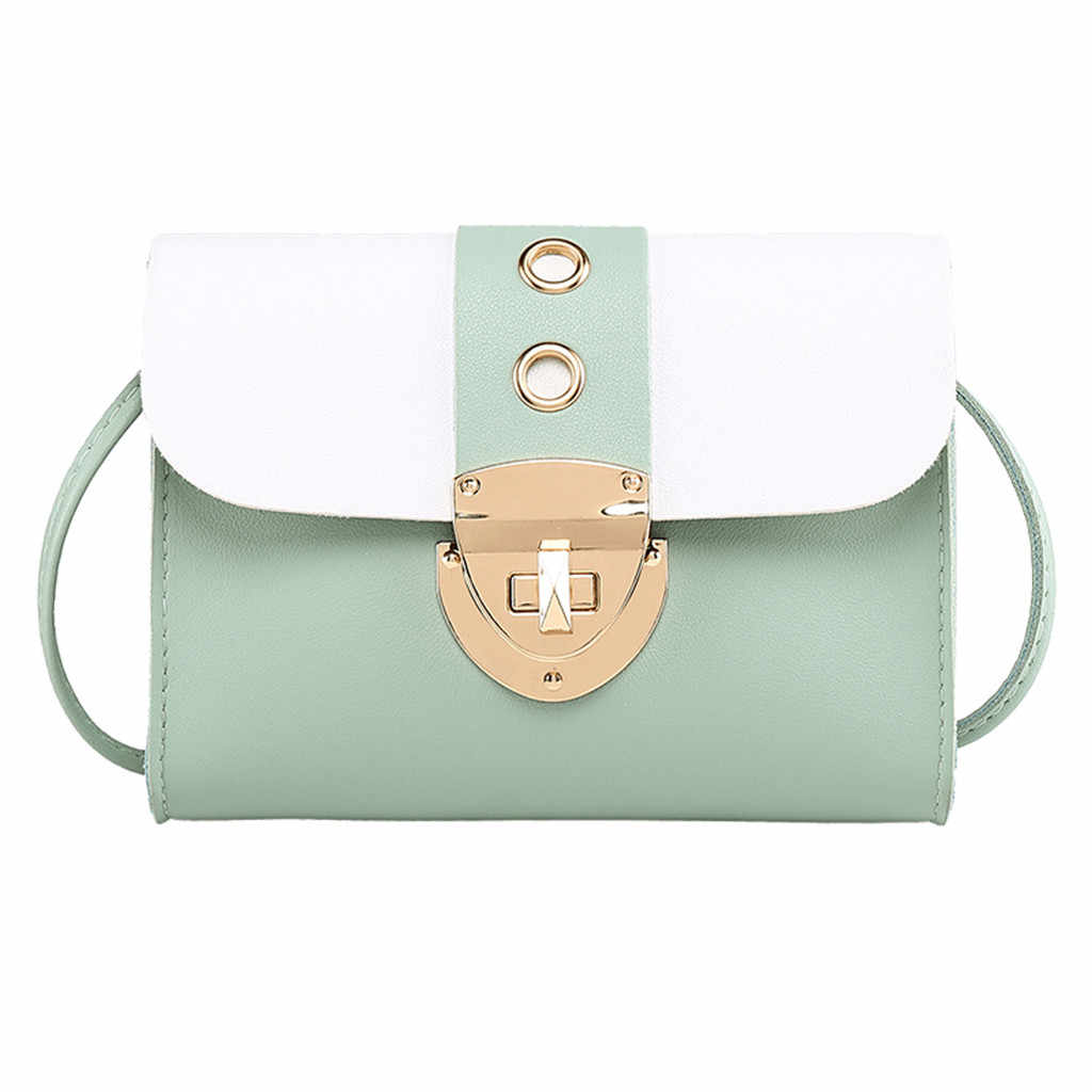Mode Tassen Voor Vrouwen 2019 Lock Lederen Schoudertas Japanse stijl reizen Messenger Bag Effen Kleur mobiele telefoon zak Mini