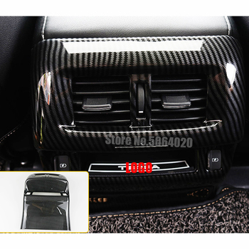 ABS Carbon fibre Car Styling Car Back Rear Air Condition outlet Vent frame Cover Trim For Nissan Navara NP300 2017 2018 2019