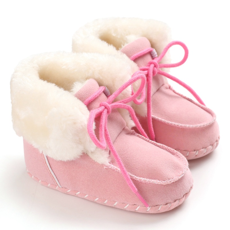 Winter Toddler Infant Baby Girls Boys Warm Anti-Slip Casual Sneakers Toddler Soft Soled Walking Shoes