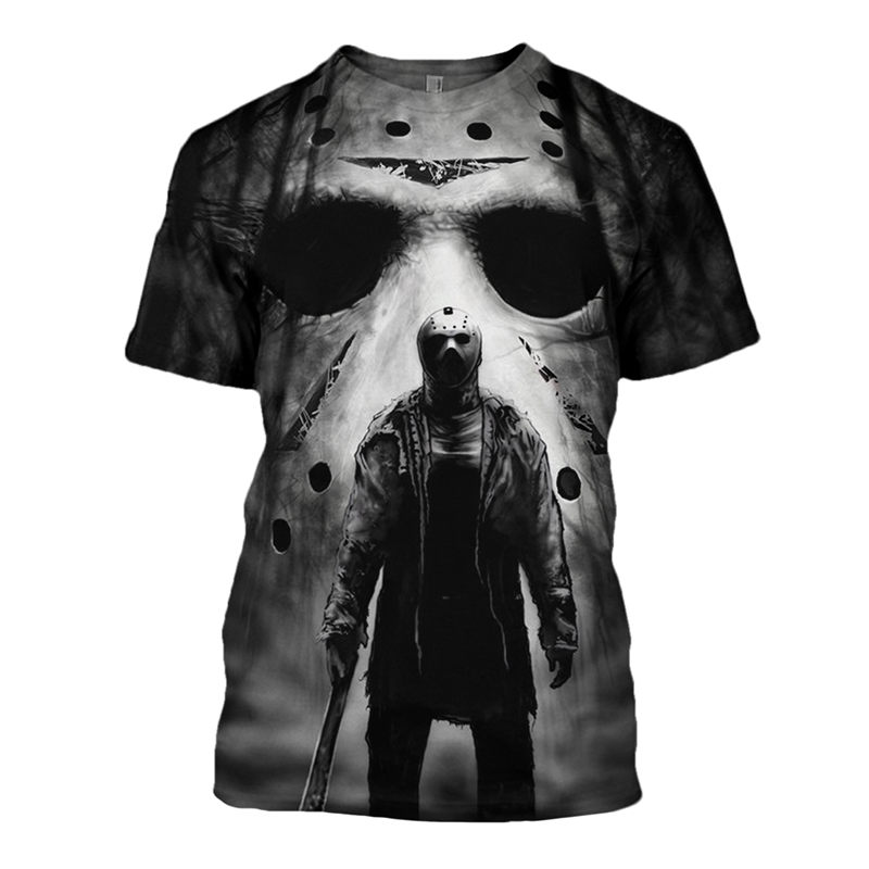 New 2019 Summer Tees Halloween Horror Michael Myers 3D Printed Men's Tops Unique Clothing Short Sleeve T Shirt Drop Shipping