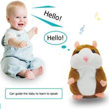 Забавные говорящие чучело хомяка плюшевые куклы животных звук ходьба говорящая запись Повтор Обучающие изменение голоса игрушки