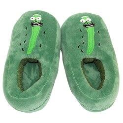 28cm rick pickle rick skellington chinelos de pelúcia macio quente sapatos de quarto brinquedos de pelúcia macio bonecas