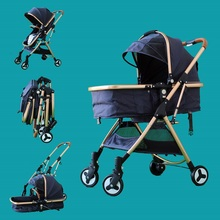 Newborn baby pram on key fold High landscape strollers with