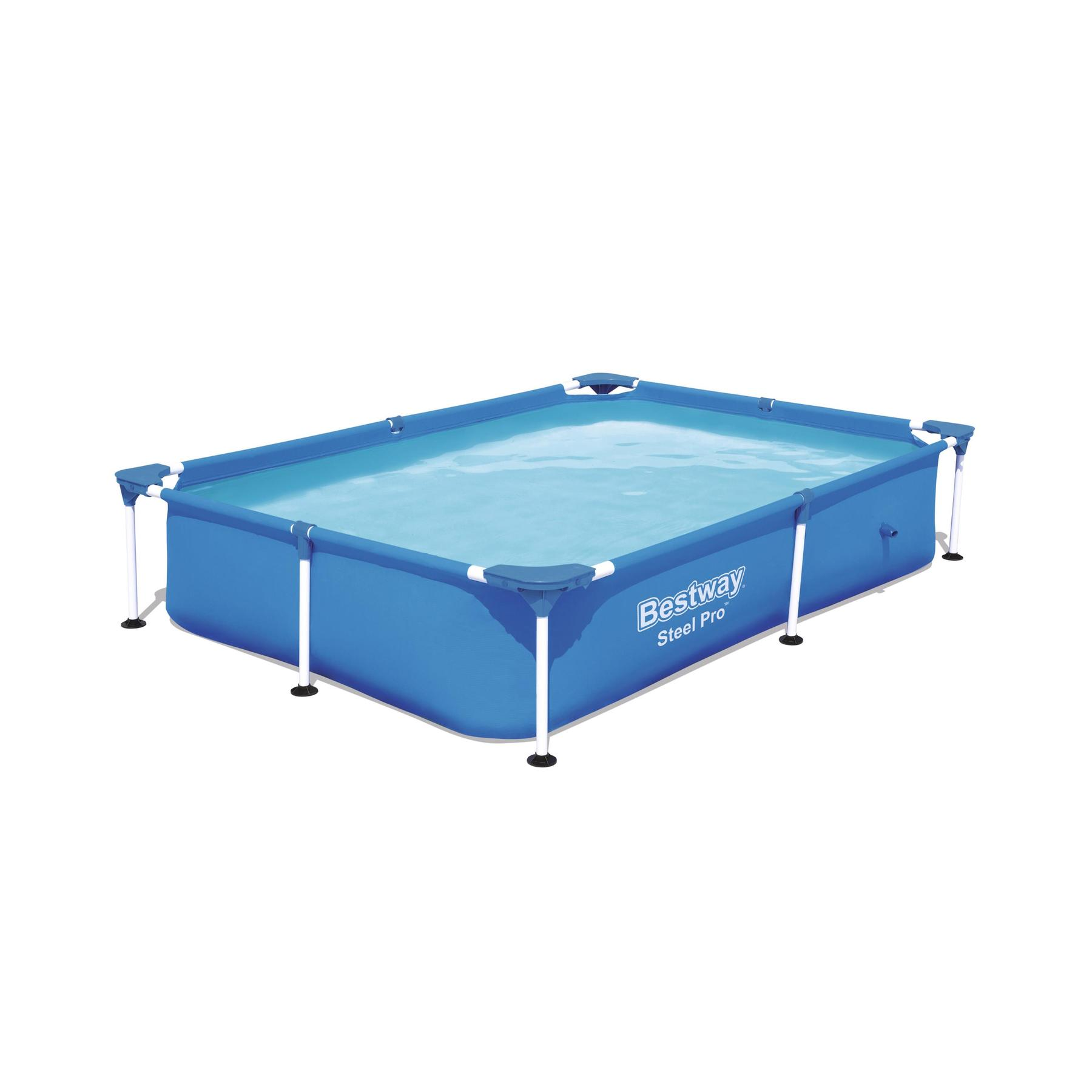 Scaffold Rectangular Pool 221 х150х43 Cm, 1200 L, Bestway Splash Jr. Frame Pool, Item No. 56401