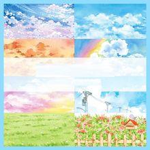 Sky Landscape Color Cloud Grass Ground Fireworks Washi Tape