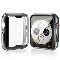 Funda de TPU para Apple Watch Series 5, 4, 3, 2, 1, funda de 38, 40, 44mm, 40mm, 40mm, 42mm, 38MM, 44mm, Protector de pantalla suave, accesorios de parachoques