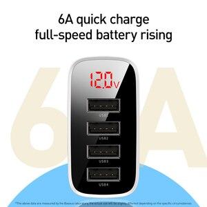 Image 2 - Baseus carregador usb para iphone 11 pro max 30w carga rápida para xiaomi mi huawei companheiro vermelho 30 pro carga rápida 4 portas de carregamento usb