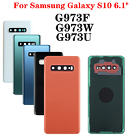 "battery samsung galaxy Shyueda 100% New For Samsung Galaxy S10 6.1"" SM-G973F G973U G973W Rear Back Door Housing Battery Door Cover + Adhesive (1)"