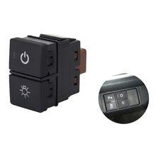 1pc interruptor de chave dupla interruptor duplo luz nevoeiro gravador radar fonte alimentação led farol interruptor botão para honda novo