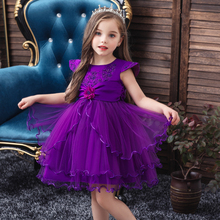 Vgiee Kids Dresses for Girls Princess Dress for Baby Girl Party and Wedding Fall Winter Floral Children Clothes CC604A 2018 autume fall winter hot sale baby girls boutique wine burgundy floral light stripe dress children clothes milk silk cotton
