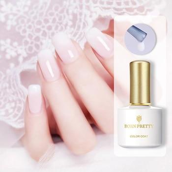 BORN PRETTY 10ml Gel de gelatina de ópalo blanco Semi-Arte para uñas transparente Soak Off UV Gel Polish esmalte de uñas de larga duración