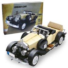 The Rolls-Royce Noble Car Set 810pcs Creator Retro Famous Car Model Building Blocks Brick Toys For Children Gift