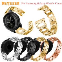 For Samsung Galaxy Watch Active 2 Wristband 20mm metal strap For Samsung Galaxy watch 42mm watches bands smart Accessories 20mm smart watch bands compatible for amazfit gtr 42mm smartwatch samsung galaxy watch active active 2 huawei watch 2 watch