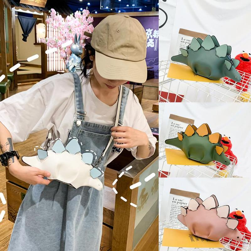 Ladies Leather Purse Bag Cute Dinosaur Crossbody Bags For Women  Messenger Bag Women Purse PU Leather Handbags Cartoon