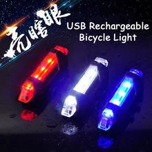 Rowerowe światło rowerowe Taillight LED ładowane na USB Bike przednie tylne światło ostrzeżenie o bezpieczeństwie rowerowe akcesoria rowerowe tanie tanio Light 005 FRAME Baterii