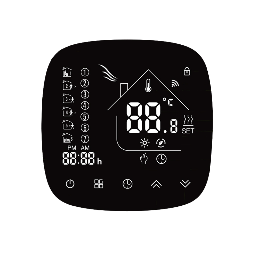 Wifi Smart Thermostat Temperature Controller With Touchscreen LCD Programmable Temperature Controller For Water/Boiler Heating