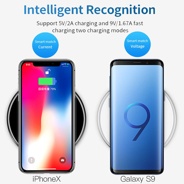 GYSO 20W Fast Wireless Charger For Samsung Galaxy S10 S9/S9+ S8 Note 9 USB Qi Charging Pad for iPhone 11 Pro XS Max XR X 8 Plus