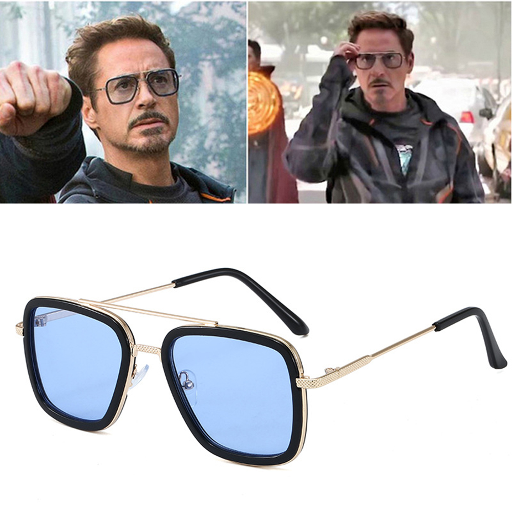 High Quality Iron Man Tony Stark Fishing Sunglasses Square Outdoor Sport Fishing Glasses Men Spider Eyewear Sports Sun Glasses