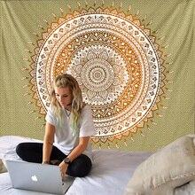 Mandala Tapestry Wall Hanging Sandy Beach Throw Rug Blanket Camping Tent Travel Mattress Bohemian Sleeping Pad Tapestries