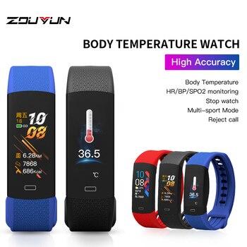 Reloj de presión arterial con banda inteligente de temperatura 2020, pulsera de fitness, reloj deportivo, pulsera de fitness
