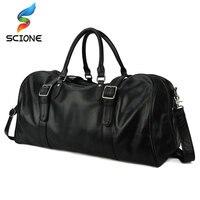 Genuine Leather Gym Bag Men Fitness Duffle Shoulder Bags Large Capacity Waterproof Travel Training Sport Handbag XA138Y