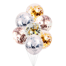 5Pcs/lot 12inch Confetti Latex Balloons Rond Air Inflatable Ball for Birthday Wedding Party Balloon Supplies