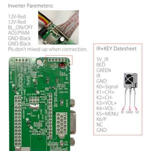 Image 4 - T.V53.03 evrensel LCD LED TV denetleyici sürücüsü kurulu TV/PC/VGA/HDMI/USB + IR + 7 anahtar düğmesi anahtarı rus değiştirin T.RD8503.03 SKR