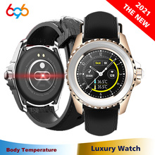 2021 Men Women Smart Watch Body Temperature Thermometer Wristband Waterproof Blood Pressure Lady Ladies Girl Bracelet Smartwatch