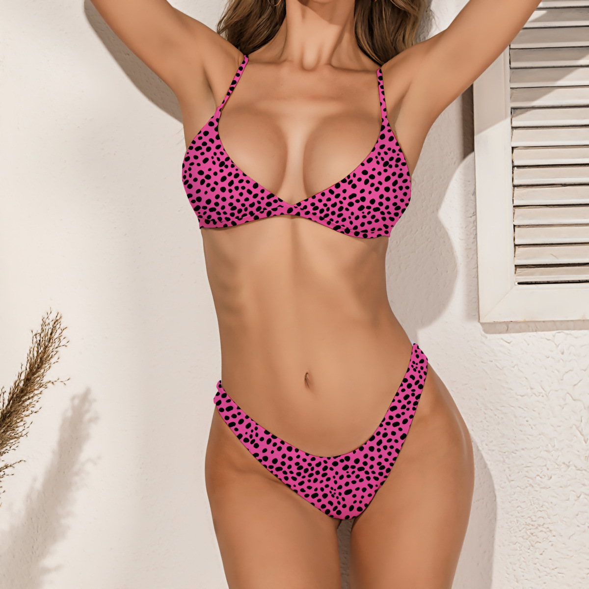 Dot Print Women's Swimsuit 2020 Summer Sexy Leopard Low Waist Swimwear Women Bikini Set Push-Up Beachwear Ladies Bathing Suit