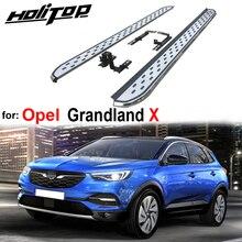 Yeni varış nerf bar yan bar ayak adımları ayak paneli Opel Grandland X, kalınlaşmak alüminyum alaşım, üretim ünlü fabrika tarafından