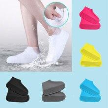 Klassische Silikon Schuh Abdeckungen Mehrweg Wasserdichte Regen Stiefel Nicht-slip Verdickt Outdoor Überschuhe Frauen Männer Schuh Schutz
