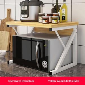 Image 2 - المطبخ فرن الميكروويف رف متعددة الاستخدام المنزل حامل رف للتخزين 2 tier طاولة مطبخ الرف المنظم المائدة الفضاء التوقف