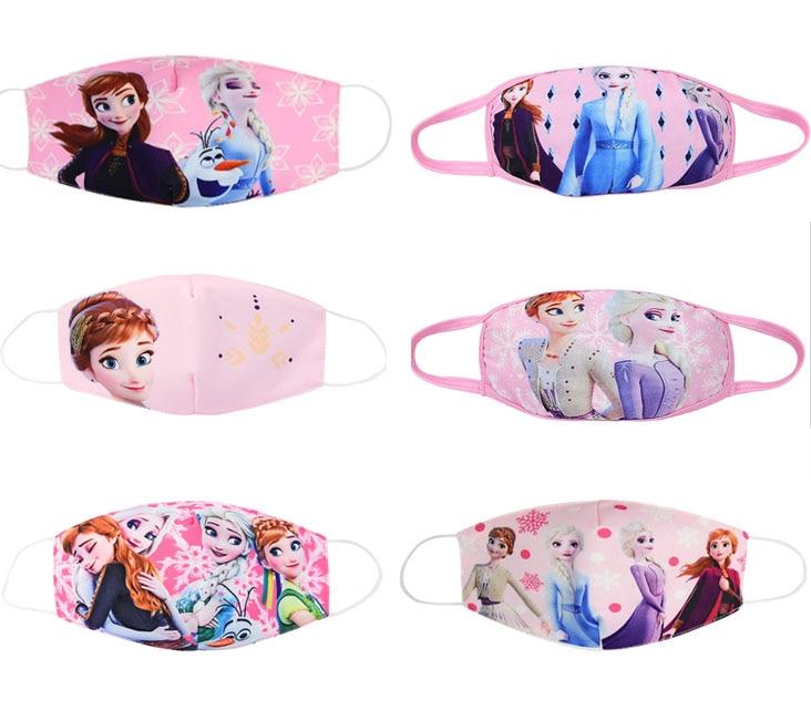 2020 New Disney Frozen Half Muffle Face Mask Adult Kids Children Cottons Dustproof Anime Cartoon Mouth Half Muffle Face Mask