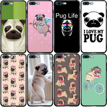 Pug Puppy Hond Cover Case Voor Xiaomi Redmi Note CC9 10 9 9S 9T 8 8T 8A 7A 6A 5 5A 5X A1 A2 Pro Max Mix 3 2S Lite Plus(China)