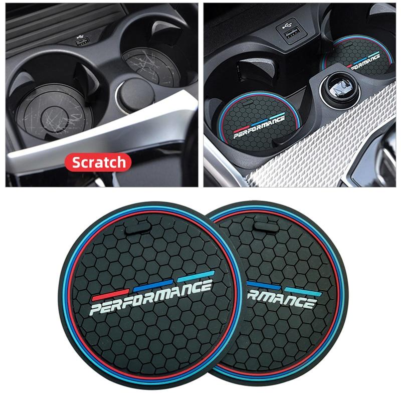 2 штуки анти-скольжения чашка Pad для BMW F10 F11 F07 E60 E61 F01 G11 F25 G01 G26 G02 F15 G05 E70 F16 G06 м машины подставки под чашки коврики-держатели