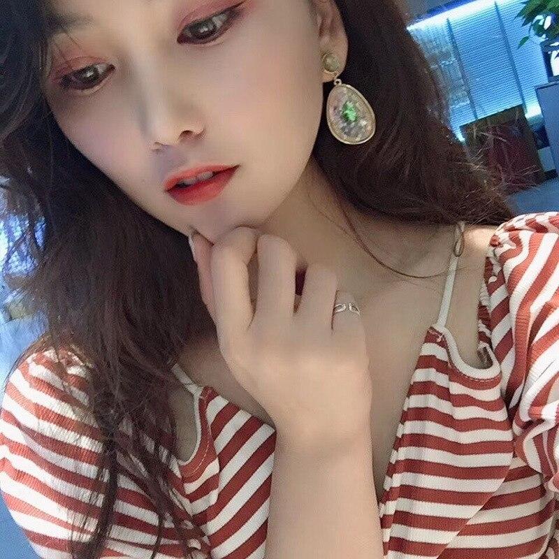 Korean Chic Vintage Temperament Geometric Earrings For Women Big Statement Shell Style Earrings in Drop Earrings from Jewelry Accessories